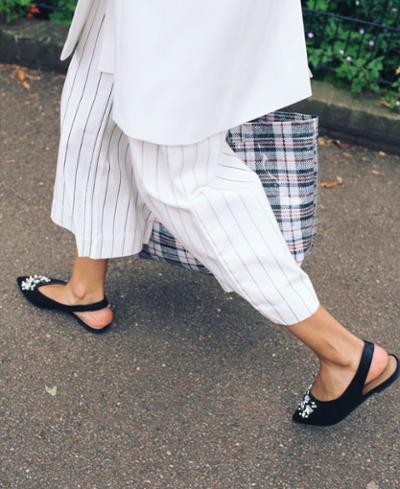 womens-fashion-outfit-black-and-white-plaid-stripes