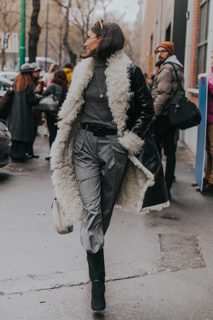 womens-style-inspiration-black-grey-leather-fur