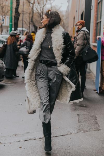 womens-fashion-outfit-black-grey-leather-fur