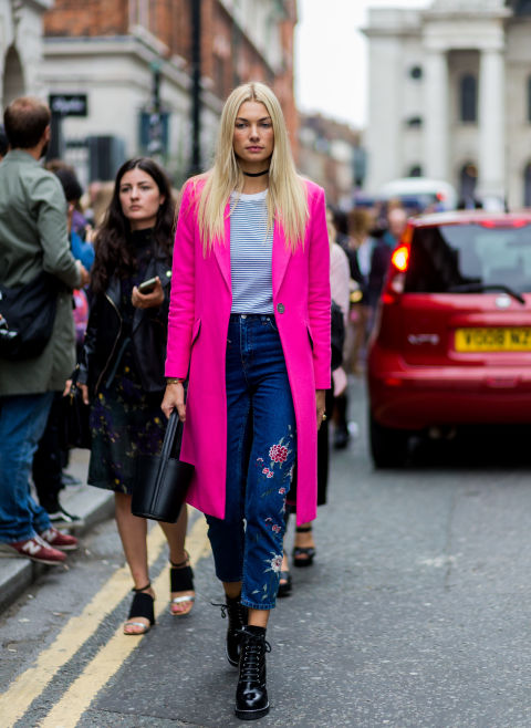 womens-style-inspiration-pink-denim-bright-colors-neon