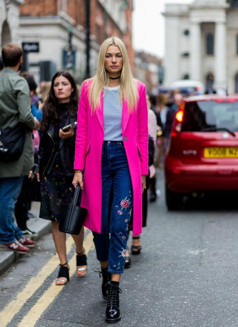 womens-fashion-inspiration-pink-denim-bright-colors-neon