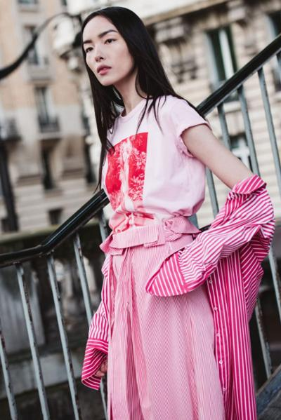 womens-fashion-look-pink-stripes-bright-colors