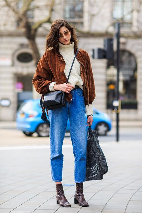 womens-style-inspiration-brown-denim-suede