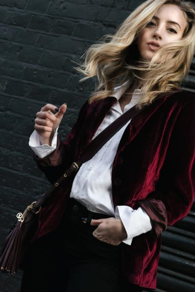 womens-fashion-outfit-burgundy-velvet
