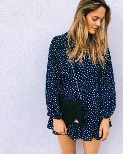 womens-fashion-ideas-polka-dots-navy-chain-bags