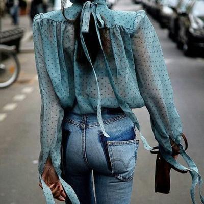 womens-fashion-ideas-polka-dots-denim-silk-and-satin