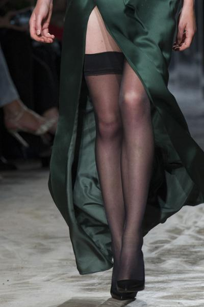 womens-fashion-photography-green-silk-and-satin-fancy-tights-long-skirts