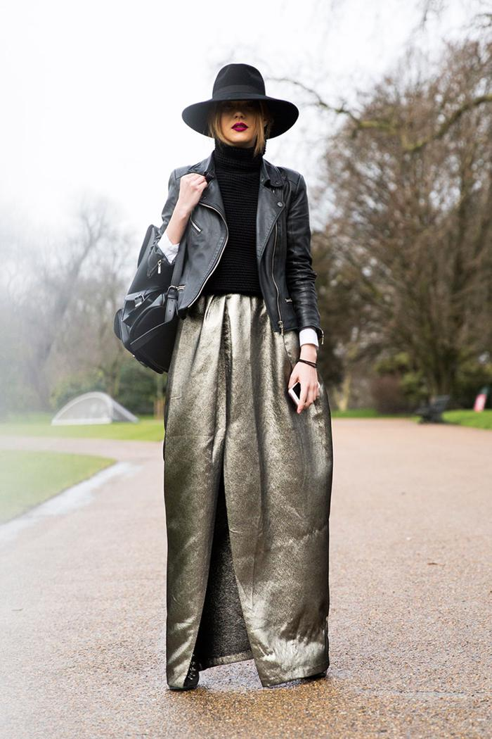 womens-fashion-photography-leather-fedora-hats-neon-long-skirts