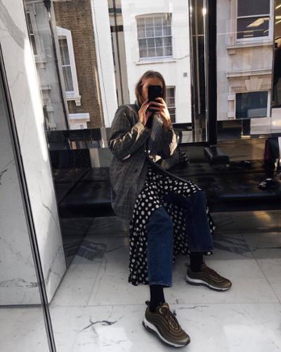 womens-fashion-look-polka-dots-denim-light-coats-plaid