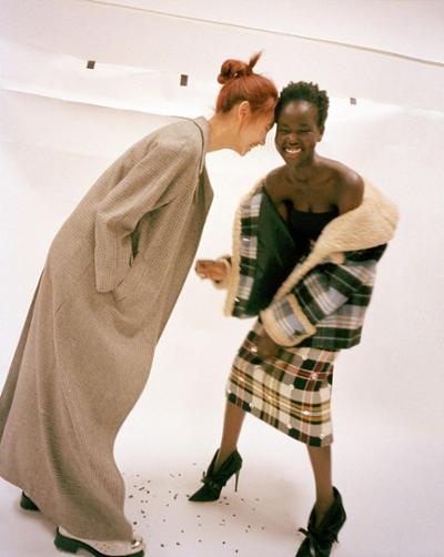 womens-fashion-ootd-khaki-light-coats-plaid-long-skirts