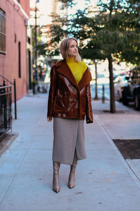 womens-fashion-ootd-yellow-leather-tall-boots-long-skirts