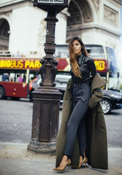 womens-fashion-ideas-khaki-military-wool-skinny-pants