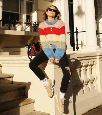 womens-style-inspiration-denim-multicolor-stripes