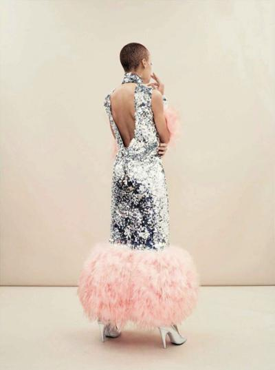womens-fashion-inspiration-pink-silver-sequins-ruffles