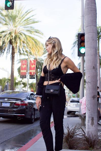 womens-fashion-inspiration-lace-chain-bags-all-black