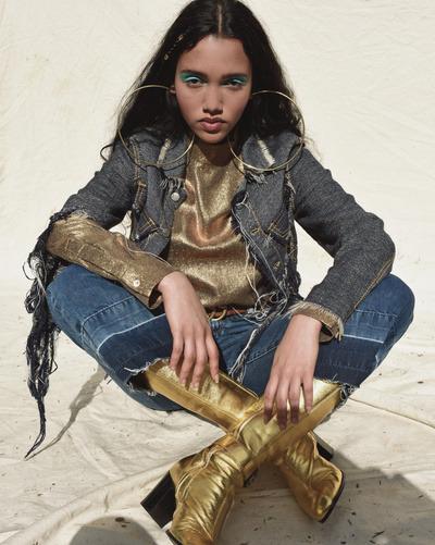womens-fashion-look-gold-denim-big-jewelry-tall-boots
