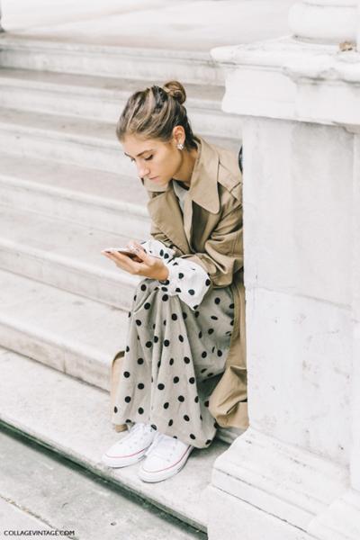 womens-fashion-ootd-polka-dots-bright-colors-long-skirts