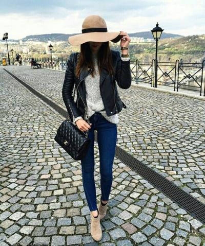 womens-style-inspiration-black-fedora-hats-chains-chain-bags