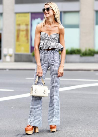 womens-fashion-inspiration-black-and-white-plaid-flared-pants