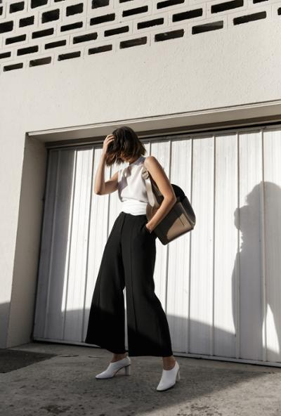 womens-fashion-inspiration-black-and-white-flared-pants