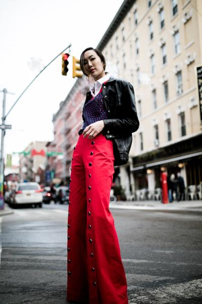 womens-fashion-ootd-red-black-flared-pants