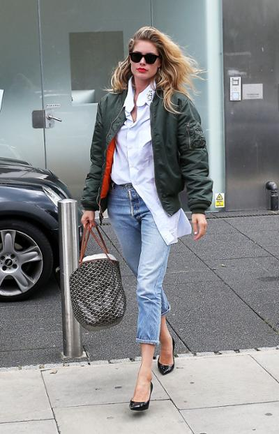 womens-fashion-look-green-white-denim