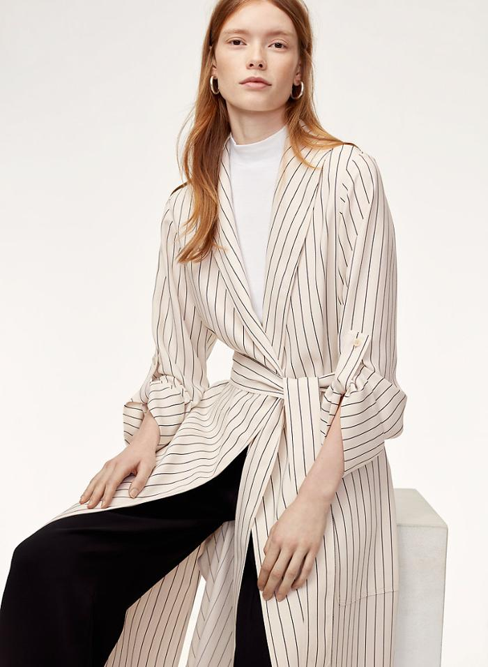 womens-fashion-ootd-light-coats-black-and-white-stripes
