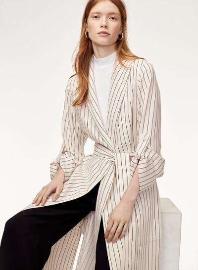 womens-fashion-outfit-light-coats-black-and-white-stripes