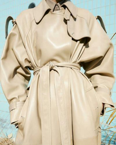 womens-fashion-ideas-leather-khaki-one-color-light-coats