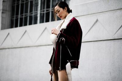 womens-fashion-outfit-motorcycle-burgundy-velvet