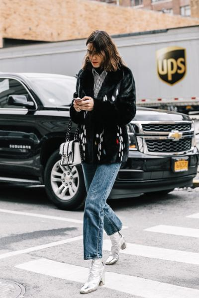 womens-fashion-outfit-silver-denim-fur