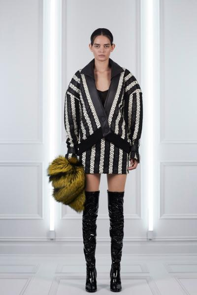 womens-fashion-outfit-fur-black-and-white-stripes-tall-boots