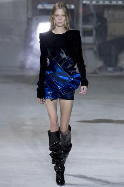 womens-fashion-look-blue-black-ruffles-tall-boots