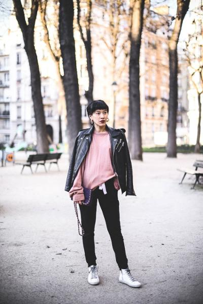 womens-fashion-look-pink-motorcycle-all-black