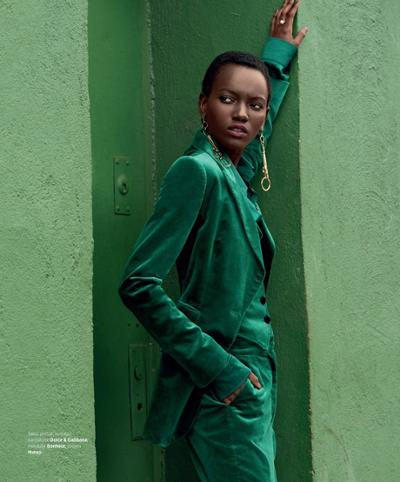 womens-fashion-look-green-masculine-big-jewelry-velvet