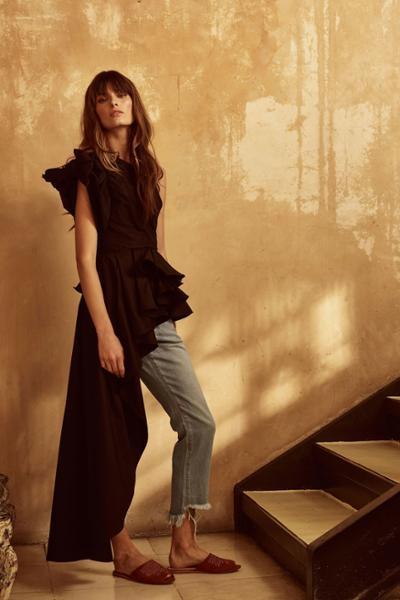 womens-fashion-outfit-black-denim-ruffles