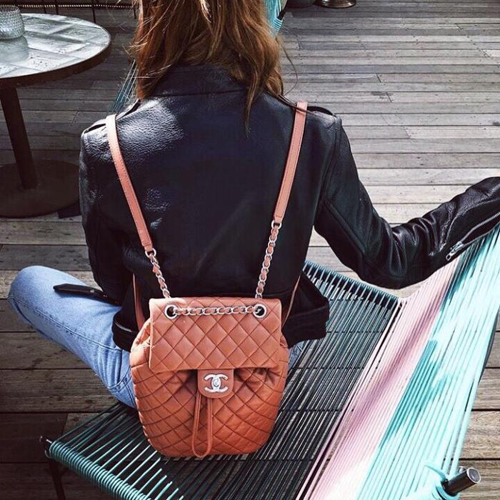 womens-fashion-outfit-leather-denim-quilted-chains