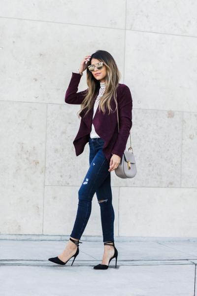 womens-fashion-look-black-denim-burgundy-chic-sunglasses