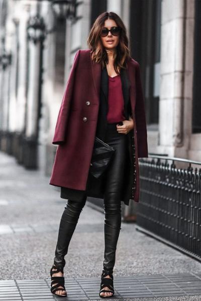 womens-fashion-ideas-black-leather-burgundy-chic-sunglasses