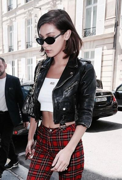 womens-fashion-ootd-black-leather-plaid-chic-sunglasses