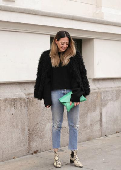 womens-fashion-inspiration-denim-fur-fuzzy
