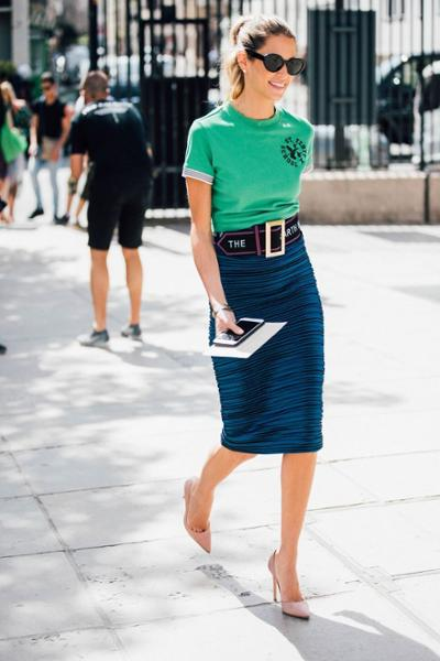 womens-fashion-ootd-green-long-skirts