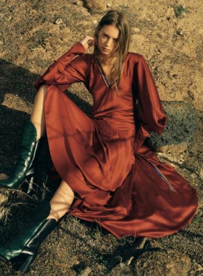 womens-fashion-ootd-orange-silk-and-satin