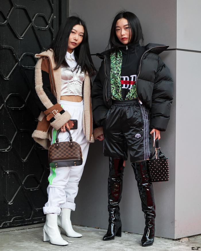 womens-fashion-ootd-sportswear-multicolor-tall-boots-puffer-coats