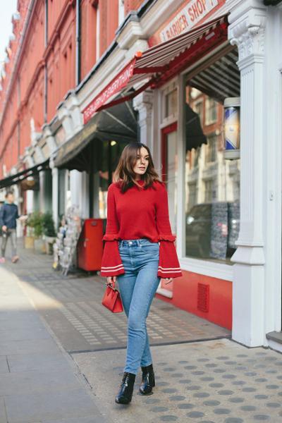 womens-fashion-ootd-red-denim-ruffles