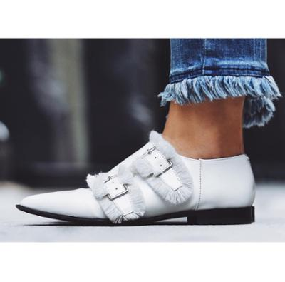 womens-fashion-outfit-white-leather-denim-buckles