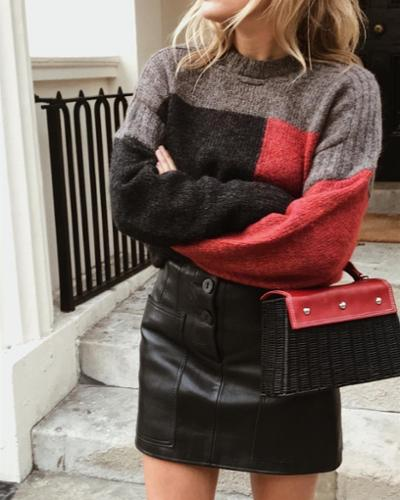 womens-style-inspiration-red-black-leather-wool