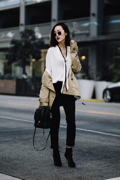 womens-fashion-ideas-masculine-black-and-white-chic-sunglasses