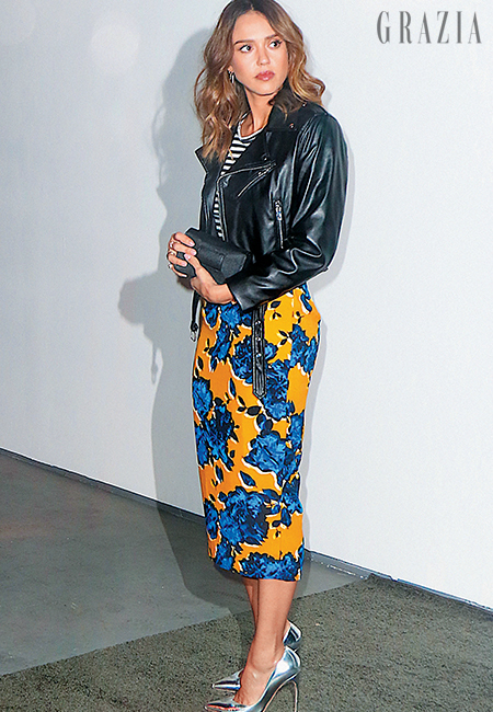 womens-fashion-outfit-florals-yellow-leather-neon