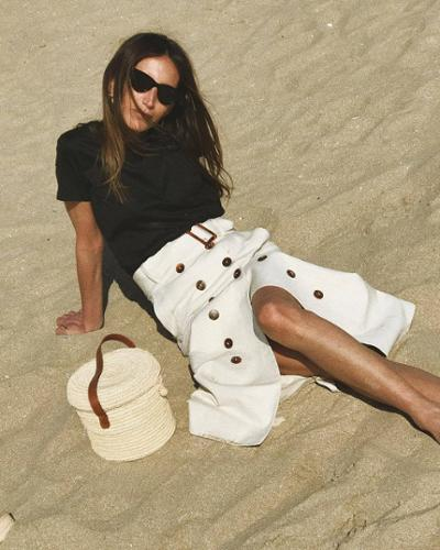 womens-fashion-ideas-beige-black-and-white-long-skirts